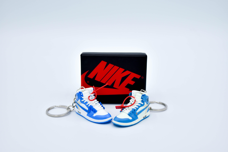 FREE GIFT Nike OFF-WHITE x Air Jordan University Blue Keychain USA Shipped