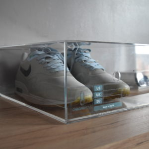 Sliding Acrylic Sneaker Display Box By Chromosole