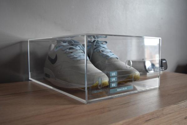 Sliding Acrylic Sneaker Display Box By Chromosole
