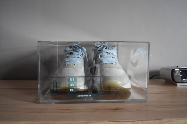 Sliding Acrylic Sneaker Display Box By Chromosole Front