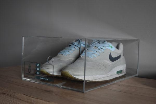 Sliding Acrylic Sneaker Display Box By Chromosole side