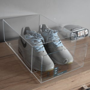 Sliding Acrylic Sneaker Display Box By Chromosole top